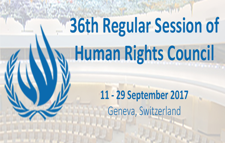 36th session of the UN Human Rights Council (source: Forum Asia)